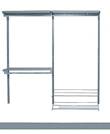 Storability Modular Closet, Garage, and Laundry Organizer Kit with 2 Top Tracks, 3 Hang Rails, 3 Shelf, 3 Clothes Rod, 2 Shoe and Boot Rack Mounting Hardware