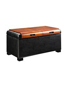 Designs4Comfort Storage Ottoman With Trays