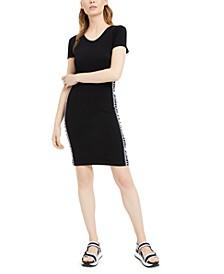 Logo-Taping Dress