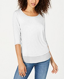 Chiffon-Hem Top, Created for Macy's