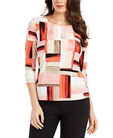 Printed Jacquard Top, In Regular and Petite, Created for Macy's