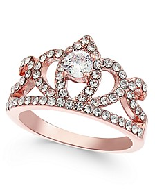 Rose Gold-Tone Crystal Crown Ring, Created for Macy's