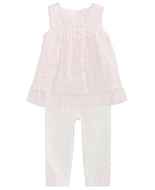 Baby Girls 2-Pc. Lace Tunic & Leggings Set, Created For Macy's