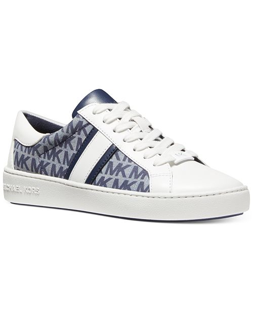 Michael Kors Keaton Side-Striped Lace Up Sneakers