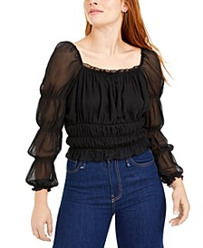 Chiffon Smocked Top, Created for Macy's