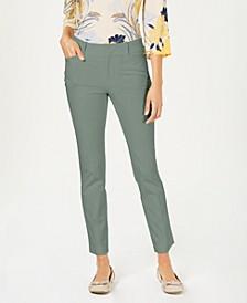 Petite Solid Newport Slim-Leg Pants, Created for Macy's