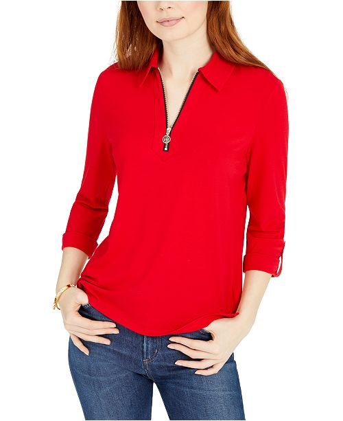 Tommy Hilfiger 1/2-Zip Solid Shirt