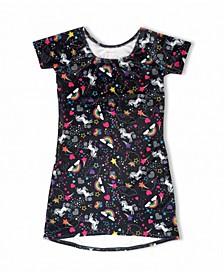 Big Girls Luxe Velvet Unicorn Dress