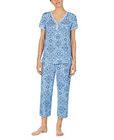 Henley Top & Capri Pants Pajama Set