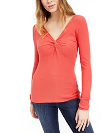 INC Twist-Front Sweater, Created For Macy's