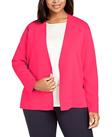 Plus Size Full Needle Sweater Coat, Created for Macy's