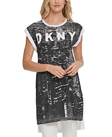 City Escape Sequin-Logo Tunic