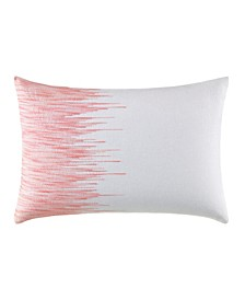 Blurr White Uneven Lines Throw Pillow