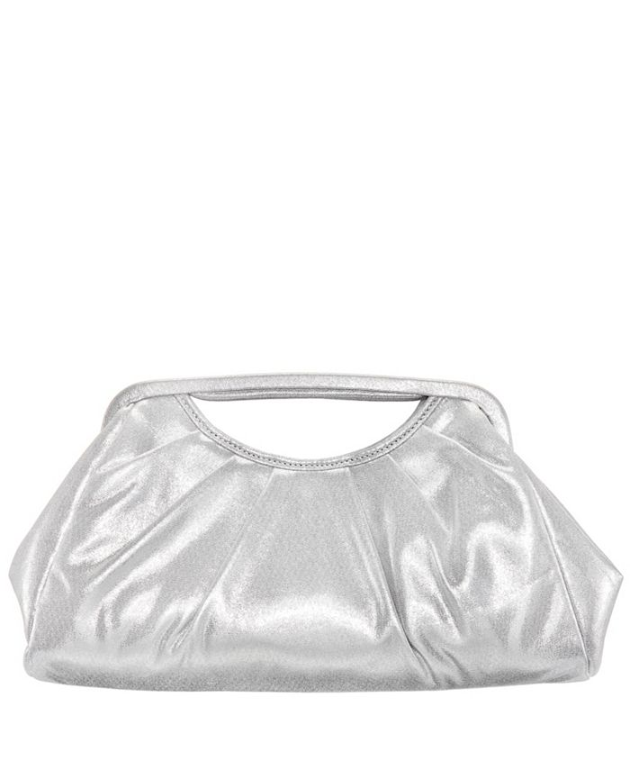 Nina - Pleated Top Handle Clutch