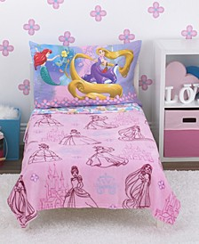 Princess 4-Piece Toddler Bedding Set
