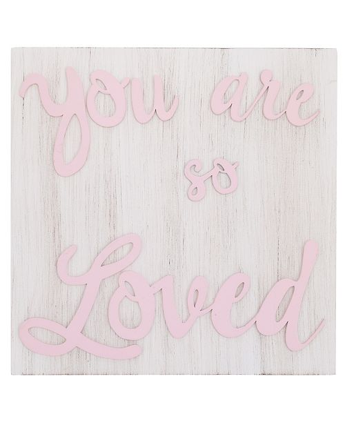 """NoJo NoJo """"You are so Loved"""" Wood Nursery Wall Décor"""