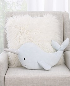 NoJo Whimsical Narwhal Decorative Pillow