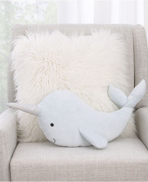 NoJo NoJo Whimsical Narwhal Decorative Pillow