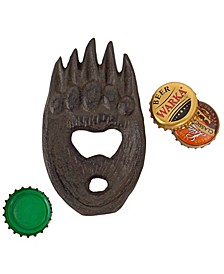 Forest Bear Grizzly Paw Bottle Opener