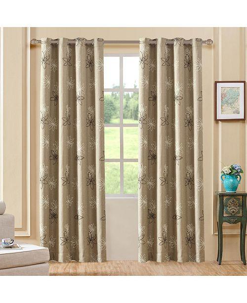 """Lyndale Decor Crawford Room Darkening Curtain, 84"""" L x 52"""" W"""