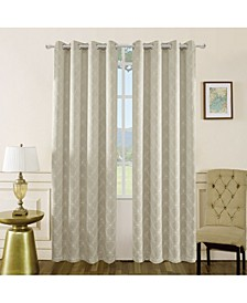 "Amelia Embroidery Room Darkening Curtain, 84"" L x 50"" W"