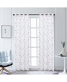 "Clarita Embroidery Sheer Curtain, 95"" L x 54"" W"
