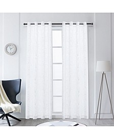 """Tess Embroidery Sheer Curtain, 84"""" L x 54"""" W"""