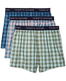 Men's 3-Pk. Cotton Classics Printed Woven Boxers