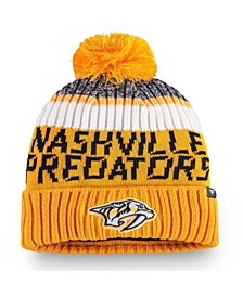 Nashville Predators Authentic Pro Rinkside Goalie Pom Knit Hat