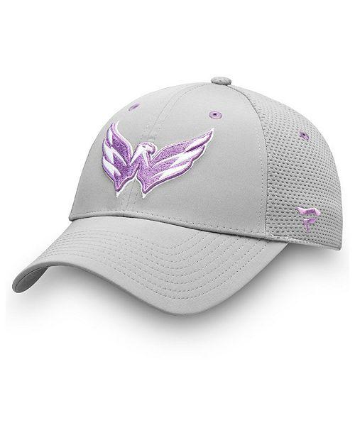 Authentic NHL Headwear Washington Capitals Hockey Fights Cancer Snapback Cap