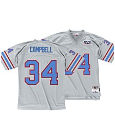 Men's Earl Campbell Houston Oilers 100 Year Platinum Jersey