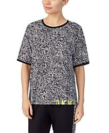 Logo-Print Knit Pajama T-Shirt
