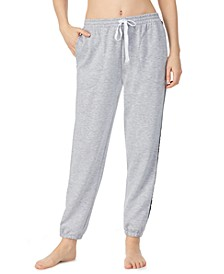Logo-Tape-Trim French Terry Jogger Lounge Pants
