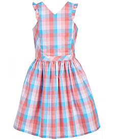 Little Girls Ruffled Gingham Dress