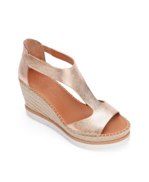 by Kenneth Cole Elyssa Easy T-Strap Wedge Sandals Women's Shoes