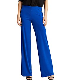 Stretch Jersey Wide-Leg Pants