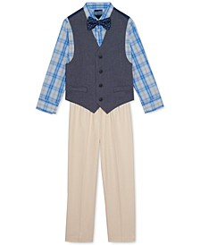 Baby Boys 4-Pc. Bowtie & Vest Set
