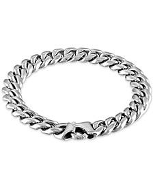"""Men's Cuban Link (10mm) 8 1/2"""" Chain Bracelet in Stainless Steel"""