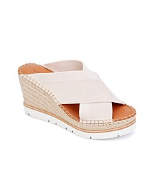 by Kenneth Cole Elyssa X-Band Wedge Sandals