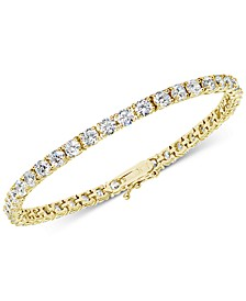 Cubic Zirconia Tennis Bracelet in Sterling Silver, Created for Macy's