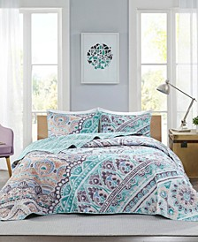 Lidia 3-Piece Full/Queen Reversible Coverlet Set