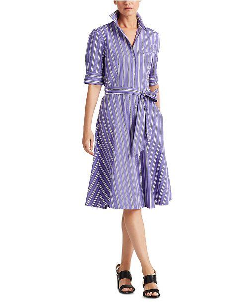 Lauren Ralph Lauren Petite Fit-and-Flare Shirtdress