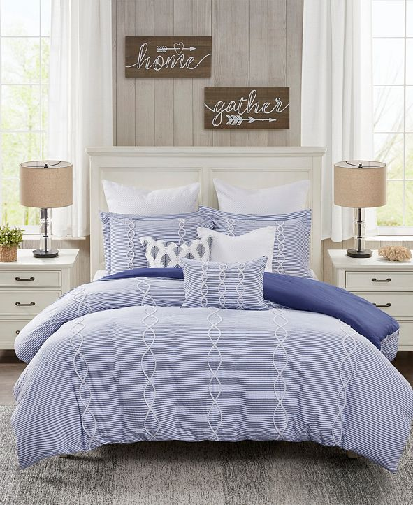Madison Park Signature Coastal Farmhouse 8-Piece Queen Comforter Set