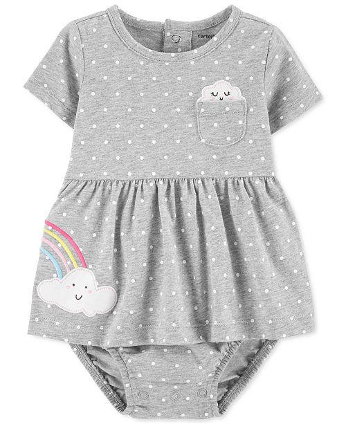 Carter's Baby Girls Dot-Print Rainbow Cotton Sunsuit