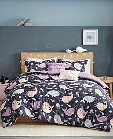 Urban Habitat Kids Magical Narwhals Reversible 5-Piece Full/Queen Coverlet Set