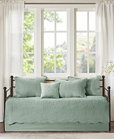 Tuscany 6 Piece Reversible Scalloped Edge Daybed Cover Set