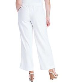Trendy Plus Size Nara Pull-On Linen Pants