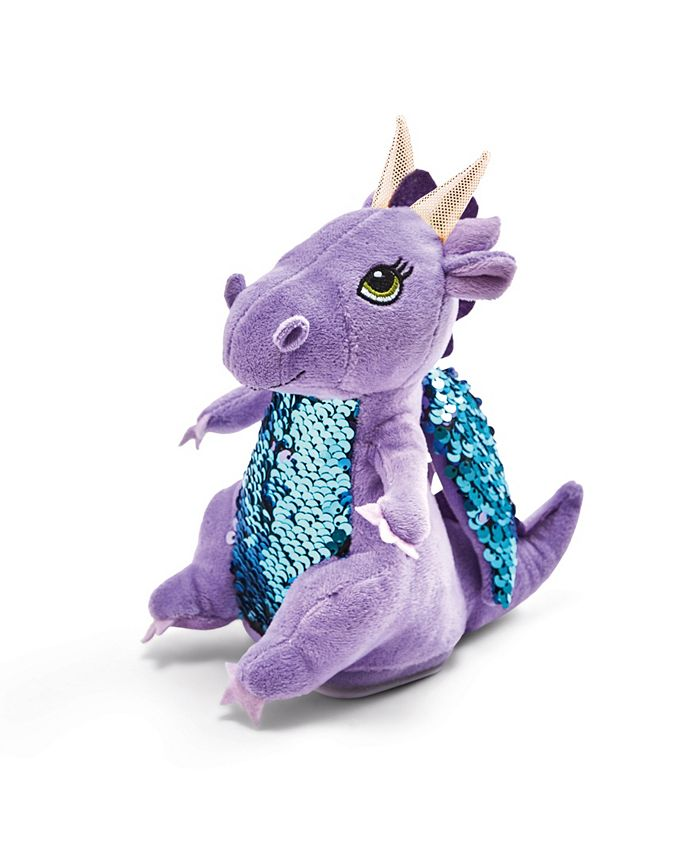 Two's Company - Plush Dragon Girl with Speak - Repeat - Body Movement Functions in Gift Box requires 3 AAA batteries, not included - Polyester/Plastic