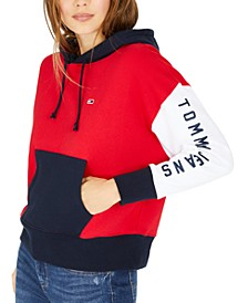Colorblocked Logo Graphic Hoodie