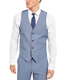 Men's Slim-Fit Stretch Solid Suit Vest, Created for Macy's